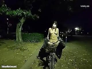 Japanese Bigtits Risky Public Nudity & Masturbation At Night Public Park