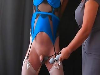 Pleasure Pain Femdom Mistress Cbt Session With Sissy Slave