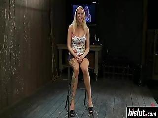 Horny Blonde Gets Pleasured In Bdsm Fashion