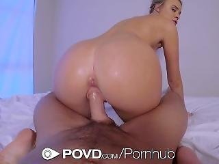 Povd Busty Blonde Alexis Adams Fucked After Bath In Pov