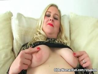 British Lily Milf Lowers Her Leggings And Finger Fucks
