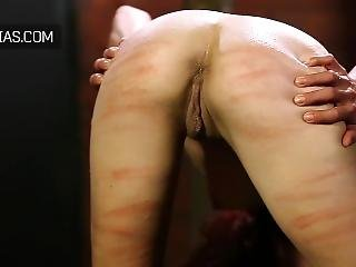 Redhead Tested With The Whip