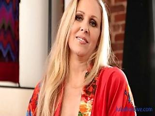 Hot Blonde Milf Julia Ann Showing Off Her Stockings