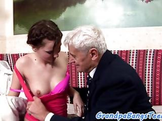 Cockriding Euro Teen Doggystyled By Oldman