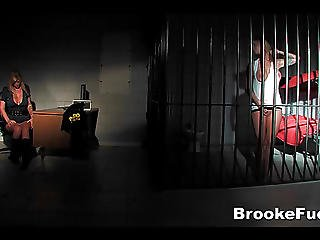 Watch Brooke Banner Be Both The Cop And The Inmate