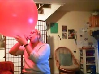 Blowing Up A Giant Red Balloon Getting Lightheaded