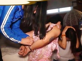 Chinese Girls Handcuffed And Arrested 10