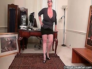 Bbw, Jouflue, Mature, Milf, Nylon, Office, Collants, Bas Collants, Secrétaire