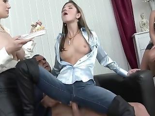 anal, bursdag, blowjob, cumshot, knulling, hardcore, fest, virkelighet, små pupper, Tenåring, Tenåring Anal