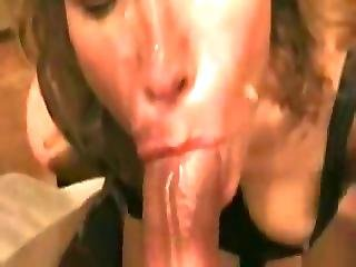 Curly Haired Blond Wife Takes Facial