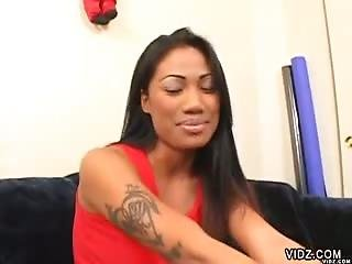 Asian Bitch Lucy Thai Loves Huge Ebony  Dongs