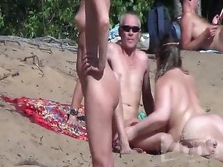 Voyeur Blowjob On A Nudist Beach