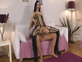Old Man With Hot And Naughty Brunette