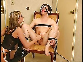 Cuck Slave Gets A Wanking From Mistress