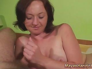 2 Cumshots On Maya Tits. Sharell From Dates25.com
