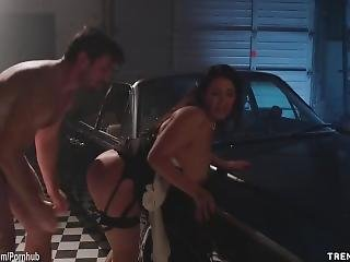 Angela White Fucked Hardcore In A Garage