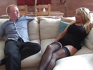 Sexy Blonde Escort Fucks A Punter