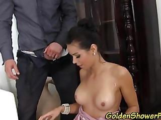 Pissing Slut Face Spunked