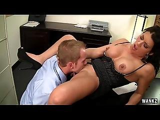 Horny Cougar Boss Gets Fucked Until She Squirts