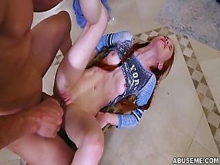 Redhead Dolly Little Likes It Rough And Hard