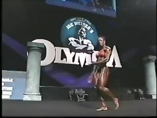 Iris Kyle Ms. Olympia In 2002 On Stage At Competition Old Times