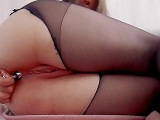 Anal - Anal Play With Buttplug And Black Toy