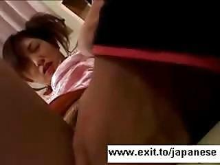 Noisy Japanese Teen Hitomi Tasting Cum