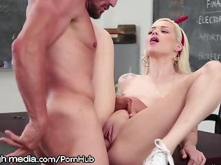 Elsa Jean Caught Cheating By Hung Teacher