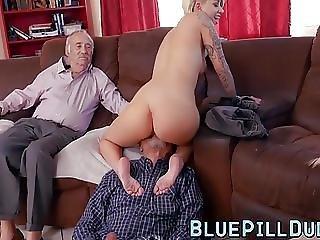 Naughty Teen Cock Sucking Slut Loves The Taste Of An Old Rod