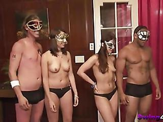 Amateur Swingers Playing Games In Reality Show