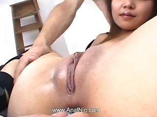 Fingers And Toys Deep In Her Chinese Ass