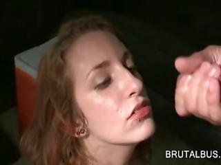 Lusty Girl Banged From Behind And Facialized