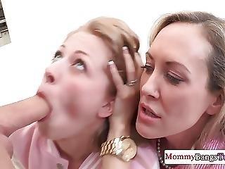 Stepmom Brandi Love Licking Ass During Ffm