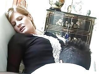 肛門の, ダブル挿入, フランス人, 成熟した, ペネトレーション, ストッキング