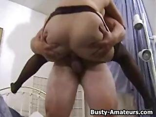 Busty Amateur Serena Loves Riding On Cock