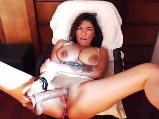 Natty So Masturbaiting With A Big Dildo