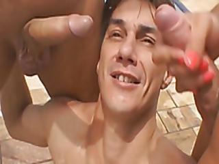 Lifeguard Pounding Amazing Guy