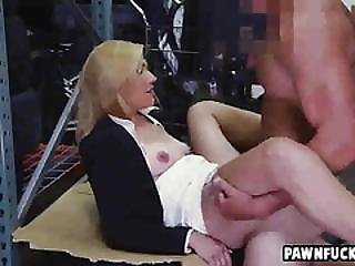 Perfect Blonde Business Woman Gets Bent Over The Desk And Gets Pussy Fucked