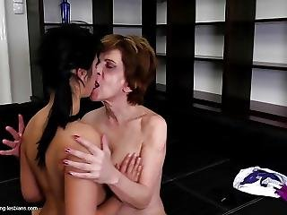 Lesbian Home Story With Granny And Teen Girl