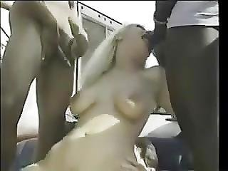 White Trash Gang Bang In Heels And Frilly Socks
