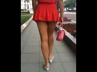 amatör, fetish, mogen, mamma, offentligt, ryska, kjol, solo, innanför kjol