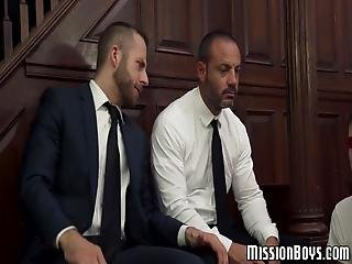 Disobedient Twinks Dildoed And Fed With Cum By Mormon Elders! These Two Were Particularly Naughty So They Deserved A Particularly Naughty Punishment!