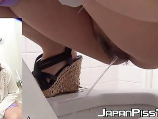 Japanese Babes Peeing Golden Piss In Urinal Pov Voyeur