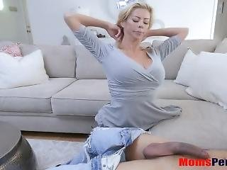 Busty Mom Fucks Son When Dad Is Away