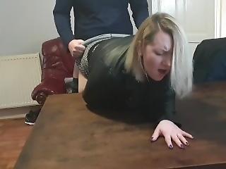 amatør, røv, babe, stor røv, blond, par, krem, creampie, milf, orgasme, bord fuckning, hustru
