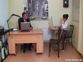 Amateur Fick Büro Schreibtisch
