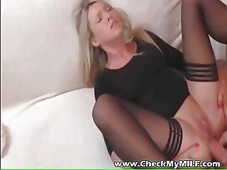 Check My Mild Blonde Suoer Hottie Wife In Stockings Sex