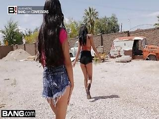 Bang Confessions   Gina Valentina Gets Used At The Junkyard