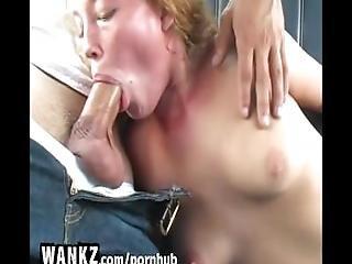 Wankz   Teen Blows Fake Cop In The Back Seat%21