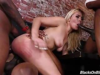 Summer Day Enjoys Her Co Workers Bbcs In A Dp Clip
